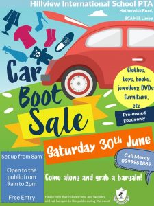 Hillview PTA Car Boot Sale