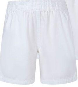 White PE shorts