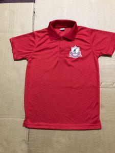 Red dri-fit golf shirt