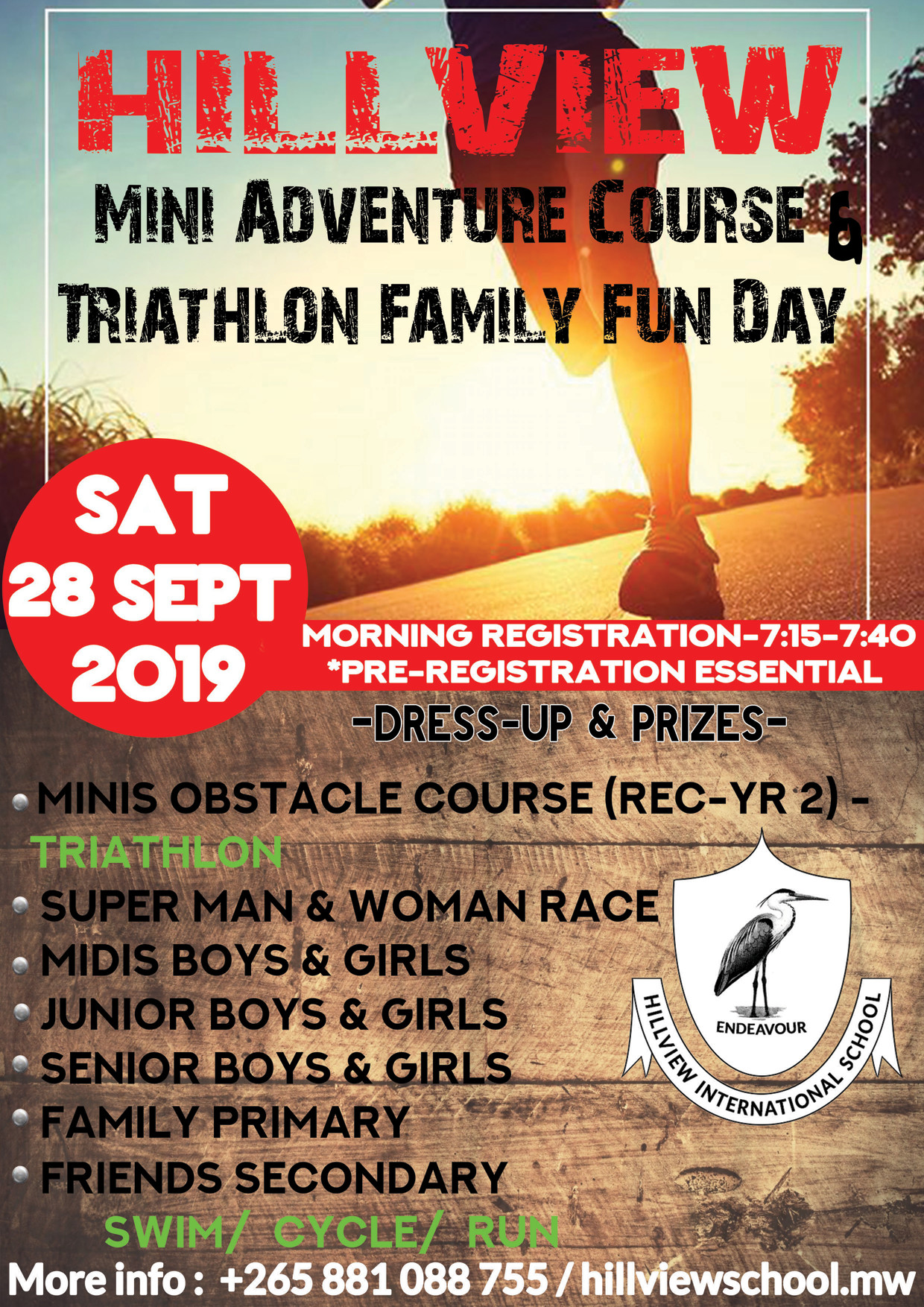 Hillview Mini Adventure Course and Triathlon Family Fun Day